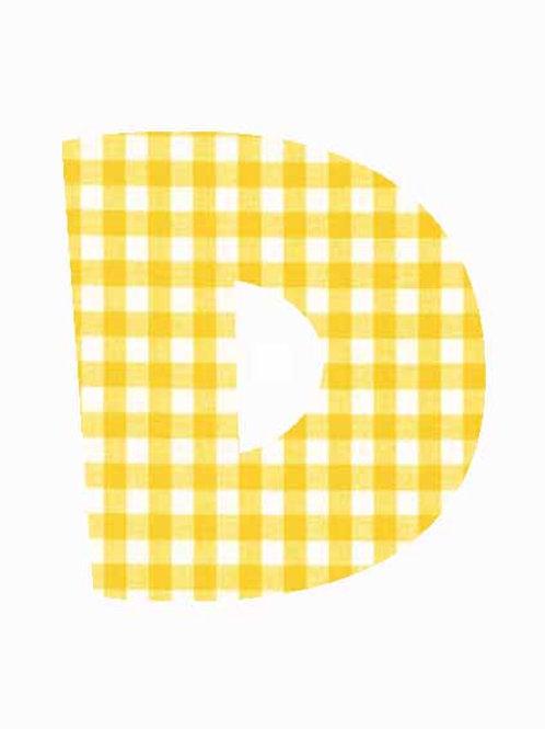 D - Yellow Gingham