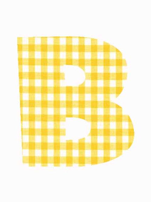 B - Yellow Gingham