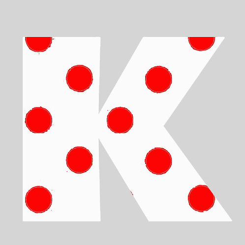 K - White & Red Polka Dot