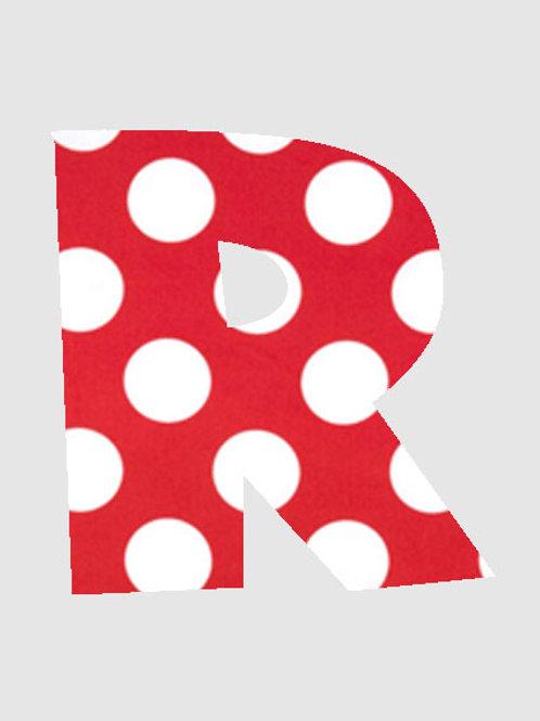 R - Red & White Polka Dot