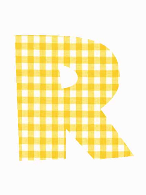 R - Yellow Gingham