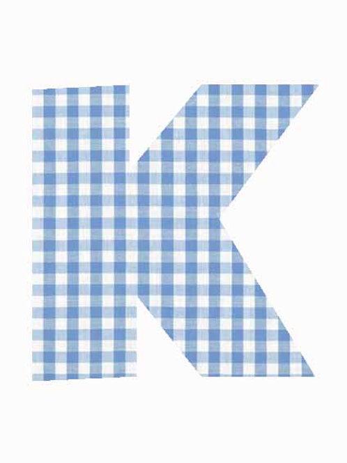 K - Blue Gingham
