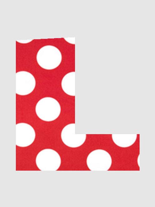 L - Red & White Polka Dot