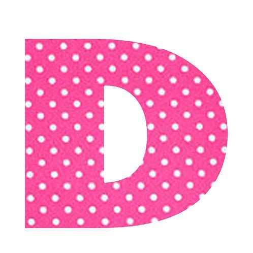 D - Pink Polka Dot