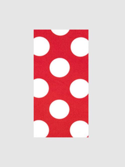 I - Red & White Polka Dot
