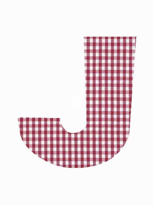 J - Red Gingham