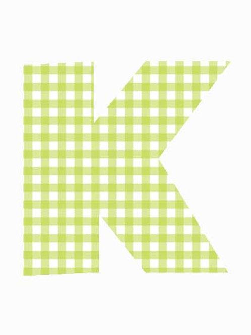 K - Green Gingham