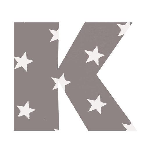 K - Grey Stars