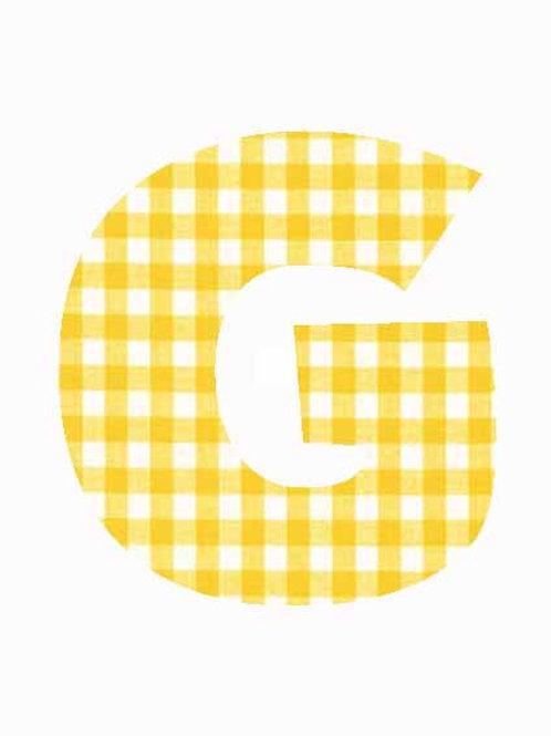 G - Yellow Gingham