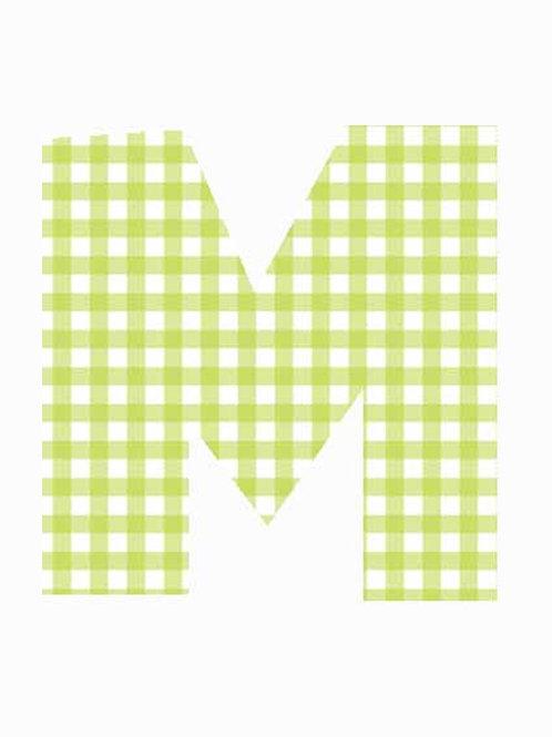 M - Green Gingham