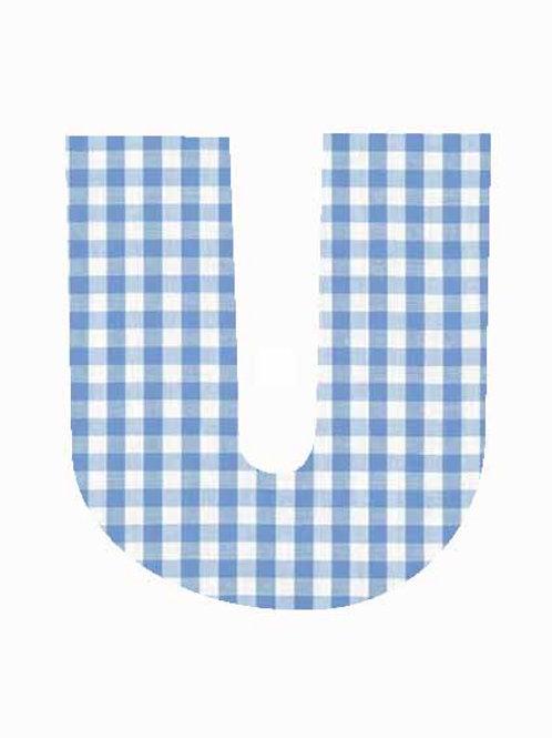 U - Blue Gingham