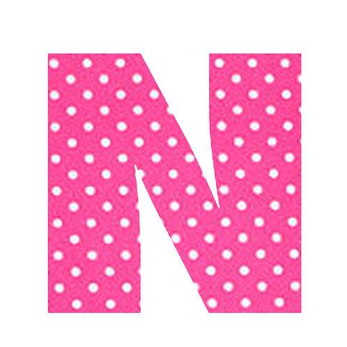 N - Pink Polka Dot