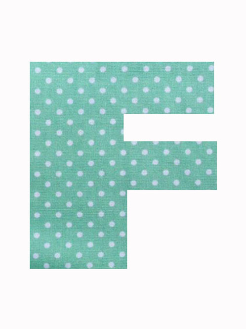 F - Green Polka Dot