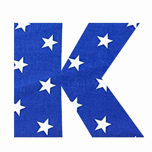 K - Dark Blue Star
