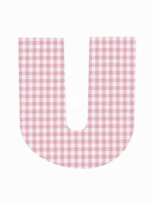 U - Pink Gingham