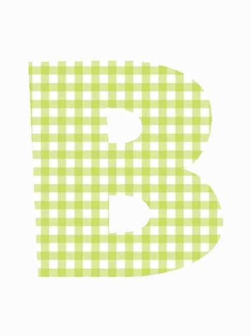 B - Green Gingham
