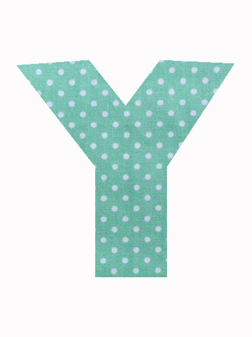 Y - Green Polka Dot