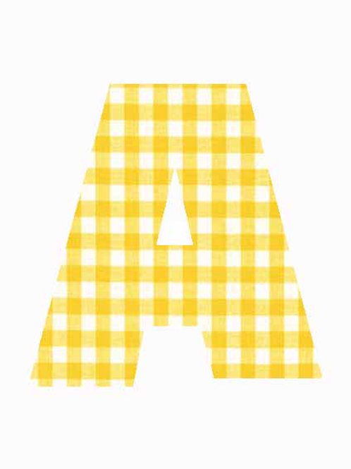 A - Yellow Gingham