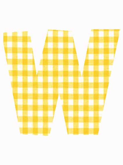 W - Yellow Gingham