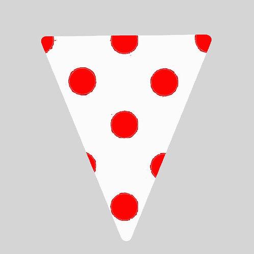 Flag - White & Red Polka Dot