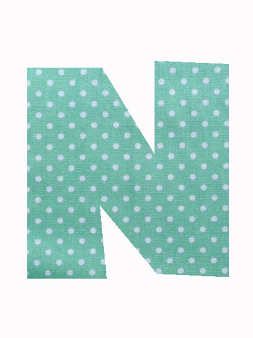 N - Green Polka Dot
