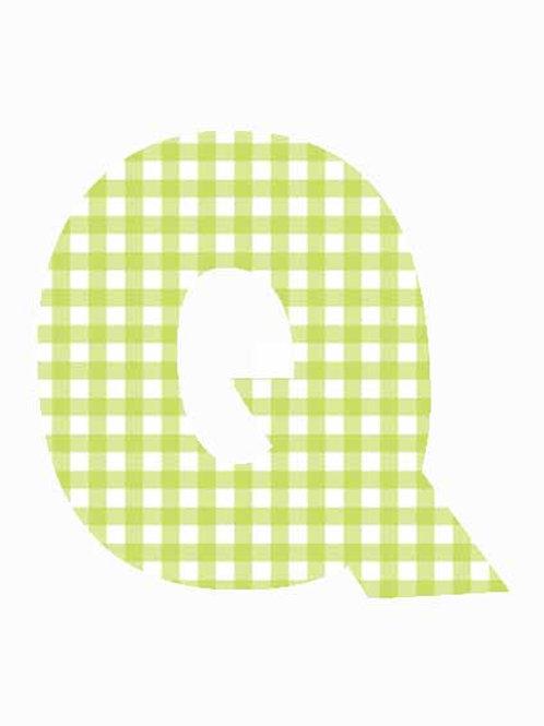 Q - Green Gingham