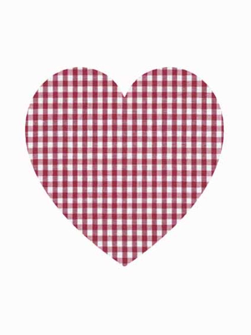 Heart - Red Gingham