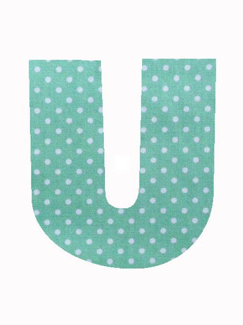 U - Green Polka Dot