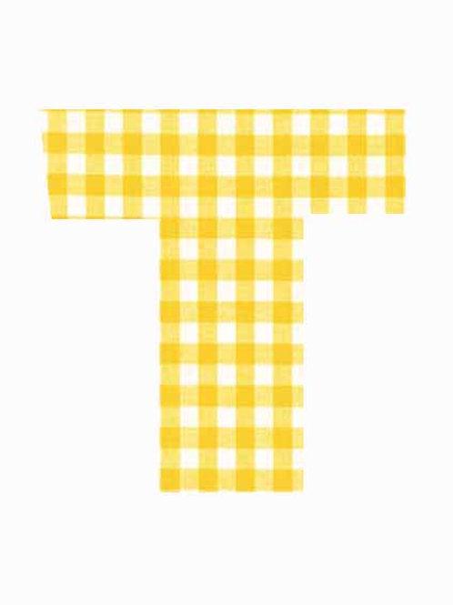 T - Yellow Gingham