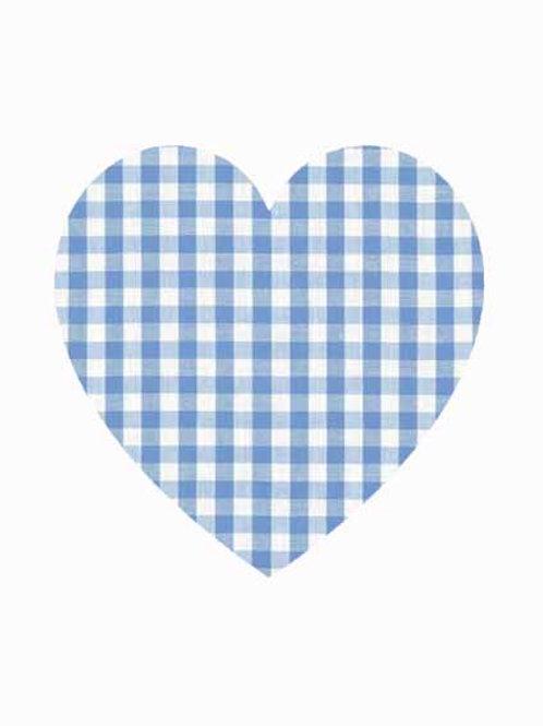 Heart - Blue Gingham