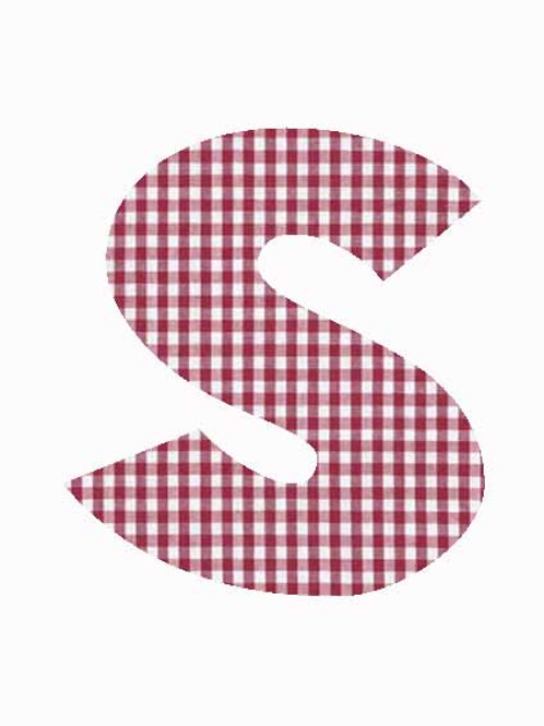 S - Red Gingham