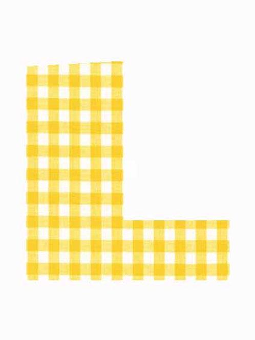 L - Yellow Gingham