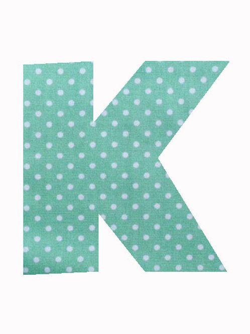 K - Green Polka Dot