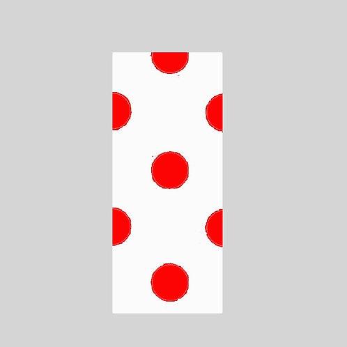 I - White & Red Polka Dot
