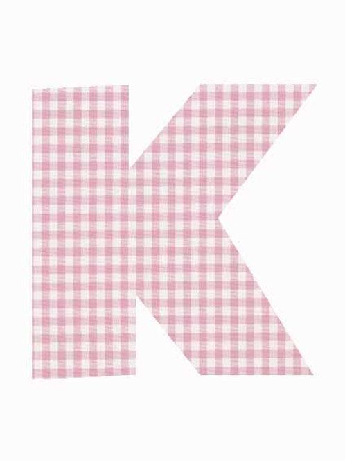 K - Pink Gingham