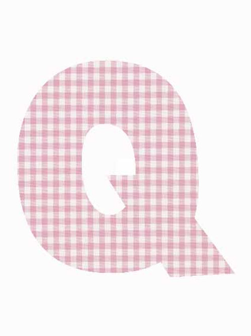 Q - Pink Gingham