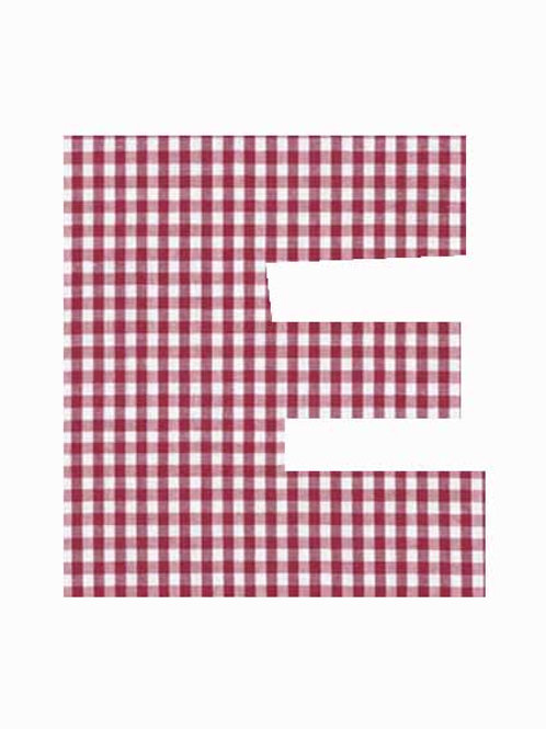 E - Red Gingham