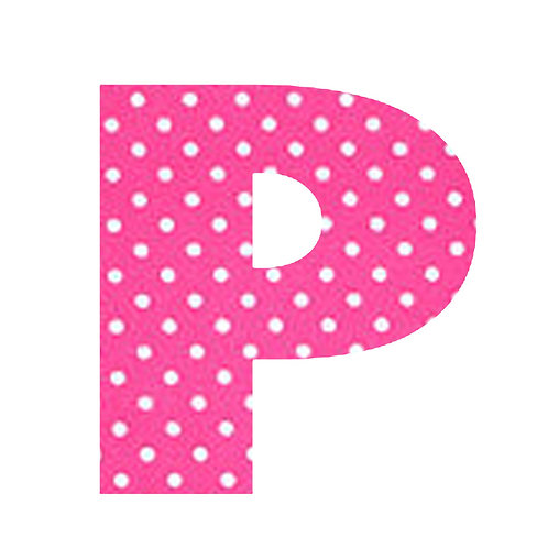 P - Pink Polka Dot
