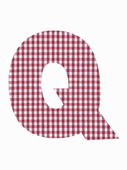 Q - Red Gingham