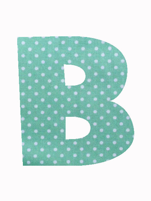B - Green Polka Dot