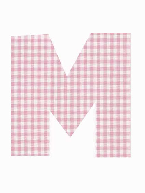 M - Pink Gingham