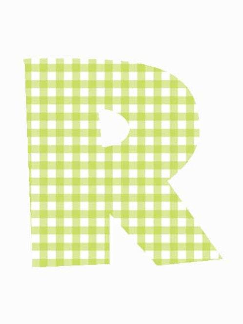 R - Green Gingham