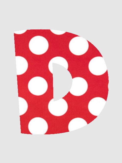 D - Red & White Polka Dot