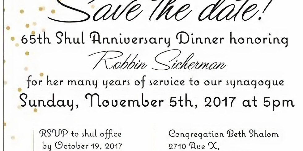 65th Anniversary Journal Dinner