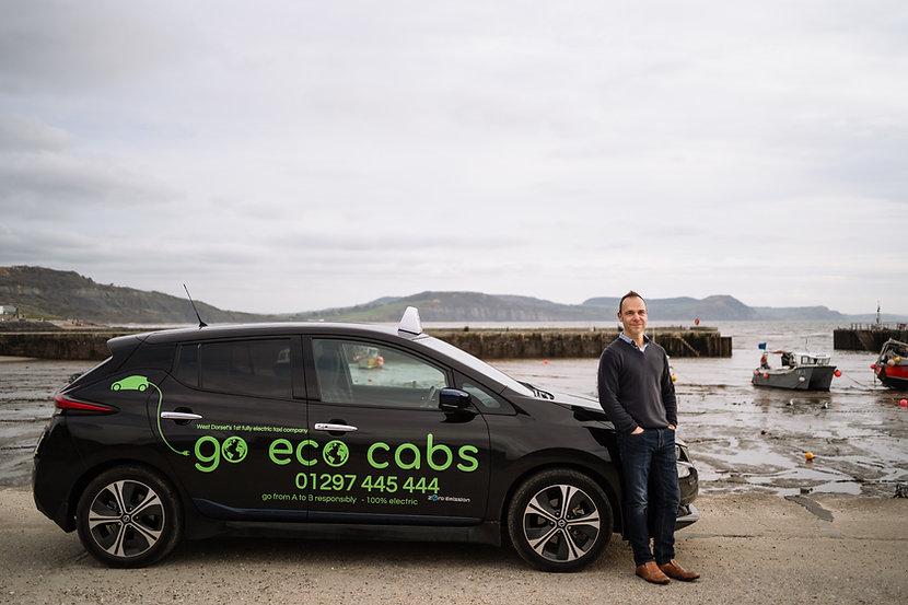 Go Eco Cabs taxi at Lyme Regis