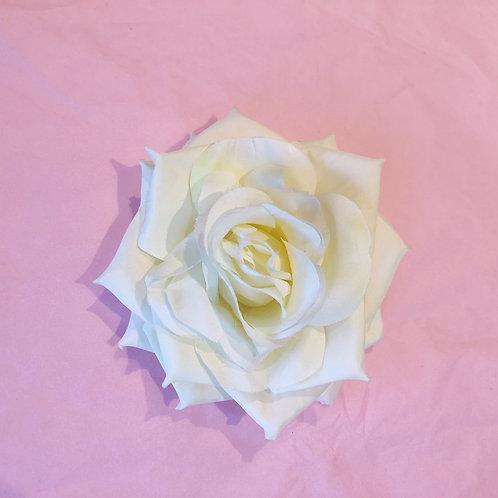 Luxury hair flower- ivory rose