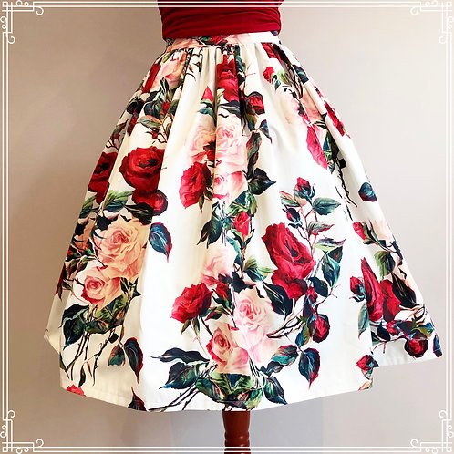 Romance in bloom gathered skirt