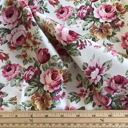5 meter bundle pink rose cotton