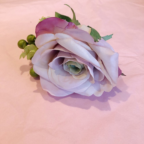 Luxury hair flower -mauve rose
