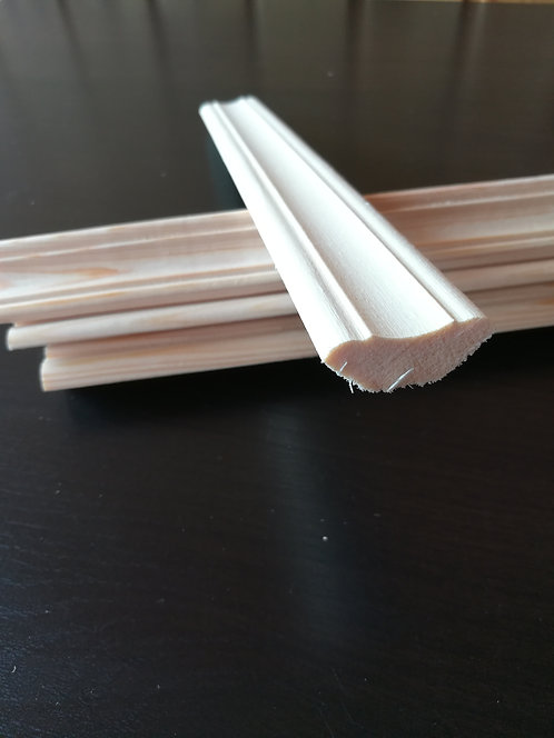 Плинтус потолочный фигур. осина 0 сорт (22х22мм)